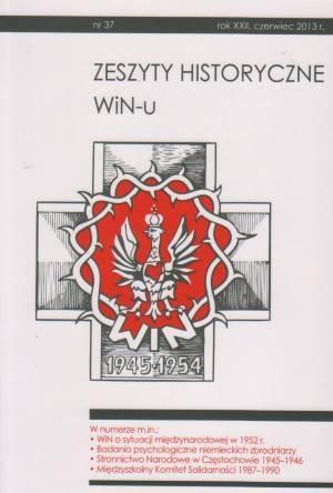 Zeszyty Historyczne Win-u nr 37 - okładka książki