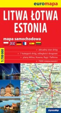Litwa, Łotwa, Estonia papierowa - okładka książki