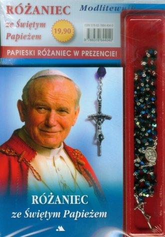 Różaniec ze Świętym Papieżem. Modlitewnik - okładka książki