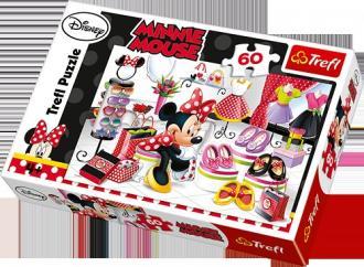 Zakupowe szaleństwa Minnie (puzzle, - zdjęcie zabawki, gry