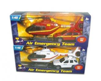 Helikopter i samochód Straży Pożarnej - zdjęcie zabawki, gry