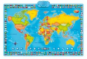 Interaktywna Mapa Świata - zdjęcie zabawki, gry