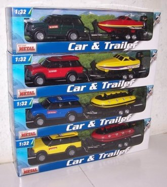 Samochód i motorówka - zdjęcie zabawki, gry