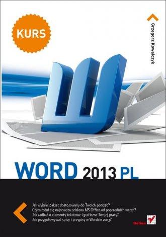 Word 2013 PL. Kurs - okładka książki