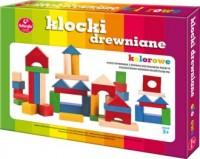 Klocki drewniane kolorowe - zdjęcie zabawki, gry