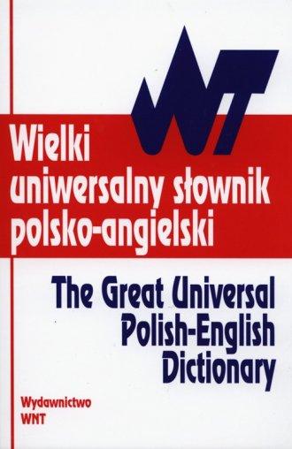 Wielki uniwersalny słownik polsko-angielski - okładka podręcznika