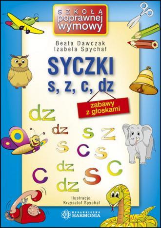 Syczki s, z, c, dz - okładka książki