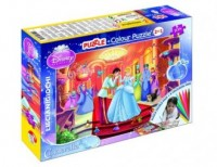 Kopciuszek (puzzle 108-elem. dwustronne + mazaki) - zdjęcie zabawki, gry