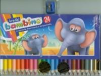 Kredki Bambino drewniane 24 kolory z temperówką - zdjęcie zabawki, gry
