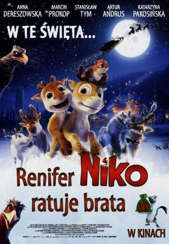 Renifer Niko ratuje brata - okładka filmu