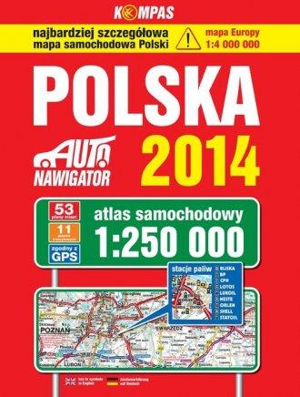 Polska 2014. Atlas samochodowy - okładka książki