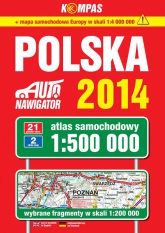 Polska. Auto nawigator 2014. Atlas - okładka książki