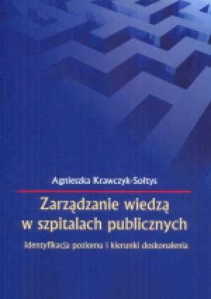 Zarządzanie wiedzą w szpitalach - okładka książki