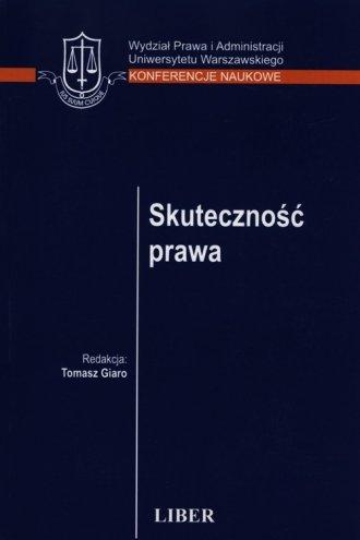 Skuteczność prawa - okładka książki