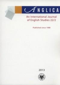 Anglica. An International Journal of English Studies 22(2)/2013 - okładka książki