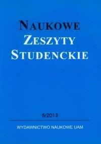 Naukowe Zeszyty Studenckie 5/2013 - okładka książki