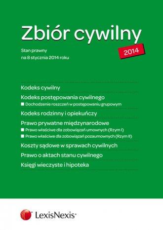 Zbiór cywilny 2014. K.C., K.P.C., - okładka książki
