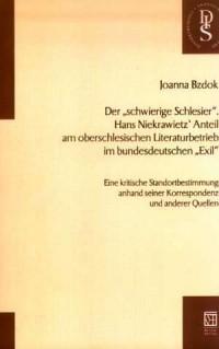 Der schwierige Schlesier. Hans - okładka książki
