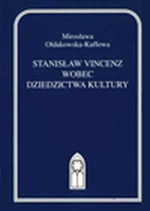Stanisław Vincenz wobec dziedzictwa - okładka książki