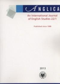 Anglica. An International Journal of English Studies 22(1)/2013 - okładka książki