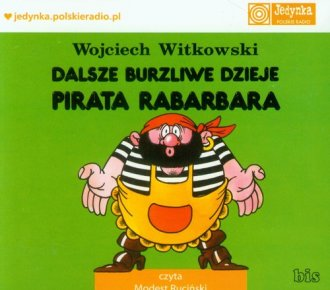Dalsze burzliwe dzieje pirata Rabarbara - pudełko audiobooku