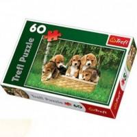 Małe Beagle (puzzle 60-elem.) - zdjęcie zabawki, gry
