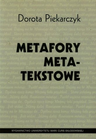 Metafory metatekstowe - okładka książki