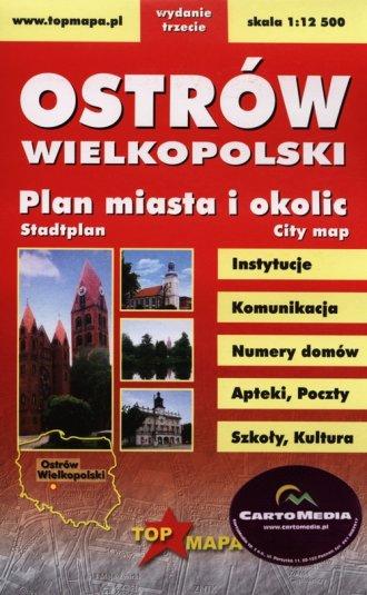 Ostrów Wielkopolski. Plan miasta - okładka książki