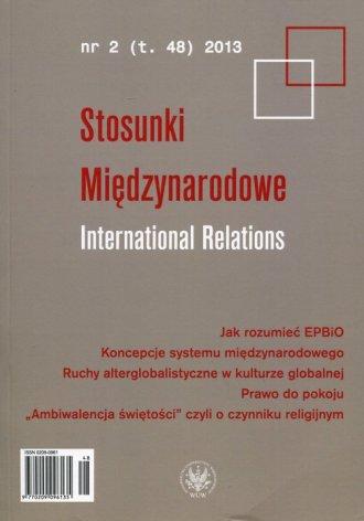 Stosunki Międzynarodowe. Tom 48, - okładka książki