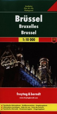 Bruksela mapa (skala 1: 10 000) - okładka książki