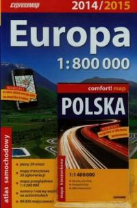 Europa atlas samochodowy (skala - okładka książki