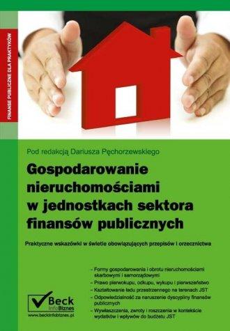Gospodarowanie nieruchomościami - okładka książki