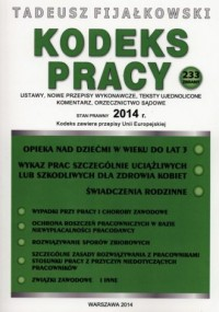 Kodeks pracy 2014 - okładka książki