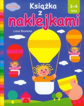Książka z naklejkami (3-4 lata) - okładka książki