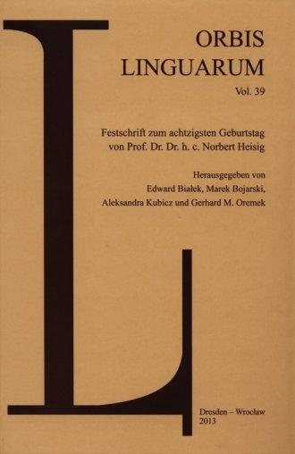 Orbis Linguarum Vol. 39. Festschrift - okładka książki