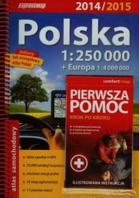 Polska atlas samochodowy (skala - okładka książki