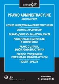 Prawo administracyjne. Zbiór przepisów. - okładka książki