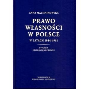 Prawo własności w Polsce w latach - okładka książki