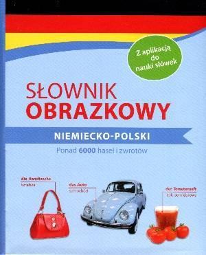 Słownik obrazkowy niemiecko-polski - okładka podręcznika