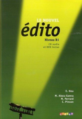 Edito B1. Język francuski. Podręcznik - okładka podręcznika