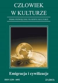 Człowiek w kulturze 23/2013. Emigracja i cywilizacje - okładka książki