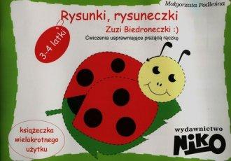 Rysunki, rysuneczki Zuzi Biedroneczki. - okładka podręcznika