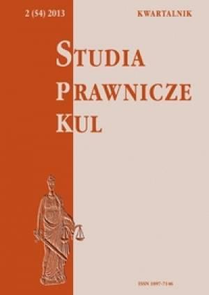 Studia prawnicze KUL, 2(54)/2013 - okładka książki