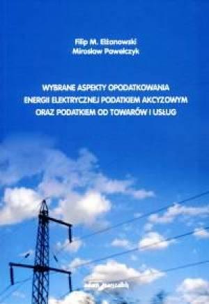 Wybrane aspekty opodatkowania energii - okładka książki