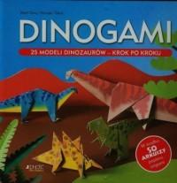 Dinogami. 25 modeli dinozaurów krok po kroku - okładka książki