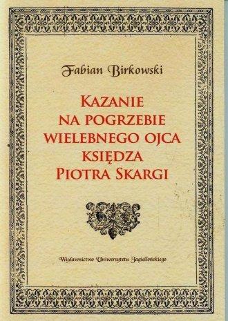 Kazanie na pogrzebie wielebnego - okładka książki