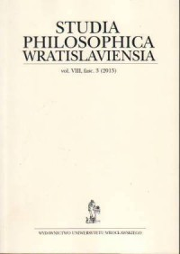 Studia Philosophica Wratislaviensia vol. VIII, fasc. 3 (2013) - okładka książki