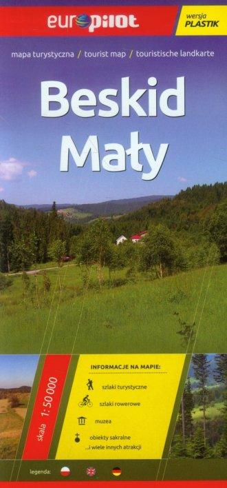Beskid Mały mapa turystyczna (skala - okładka książki
