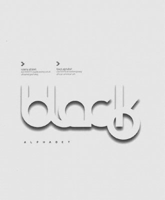 Czarny alfabet - okładka książki