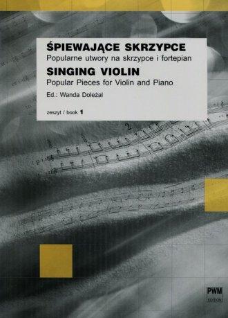 Śpiewające skrzypce zeszyt 1. Popularne - okładka książki